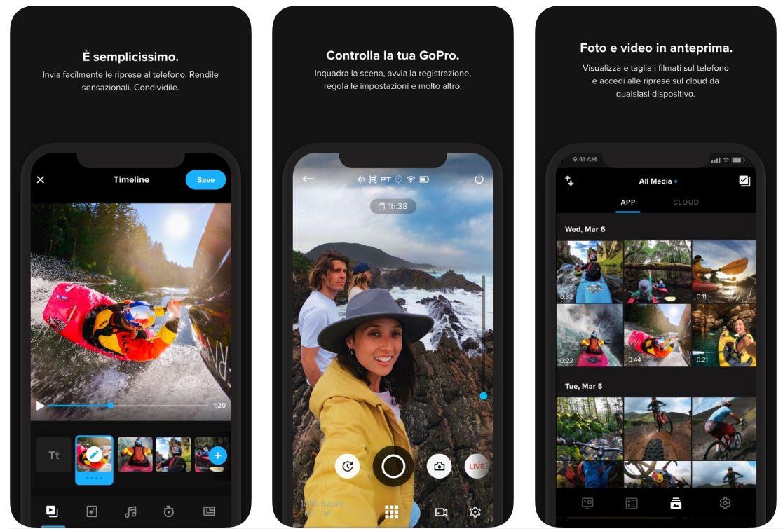 L'App GoPro guadagna il video editing di Quick