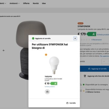 IKEA e Sonos Symfonisk, gli speaker AirPlay 2 ora si comprano online