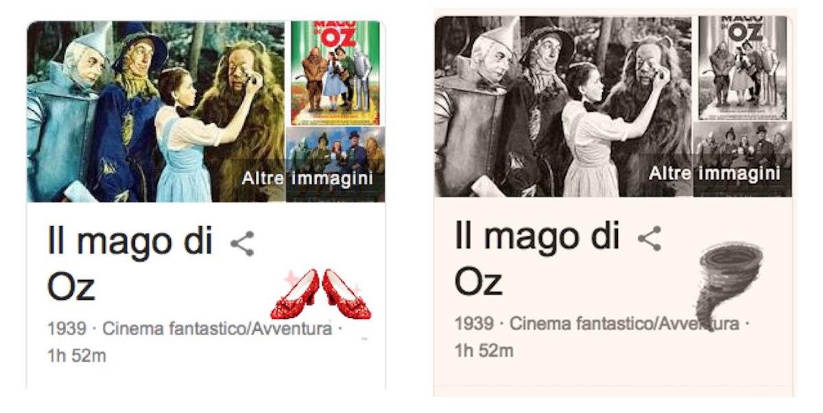 """L'easter egg di Google per """"Il mago di Oz"""" incanta il Web"""