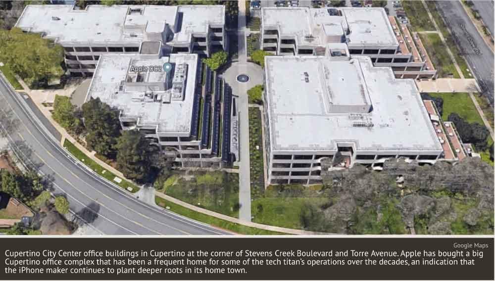 Apple ha comprato due nuovi edifici per uffici a Cupertino