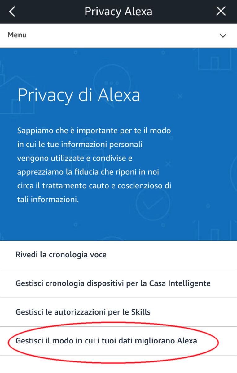 Amazon ora permette all'utente di scegliere se consentire l'ascolto a terzi delle conversazioni con Alexa