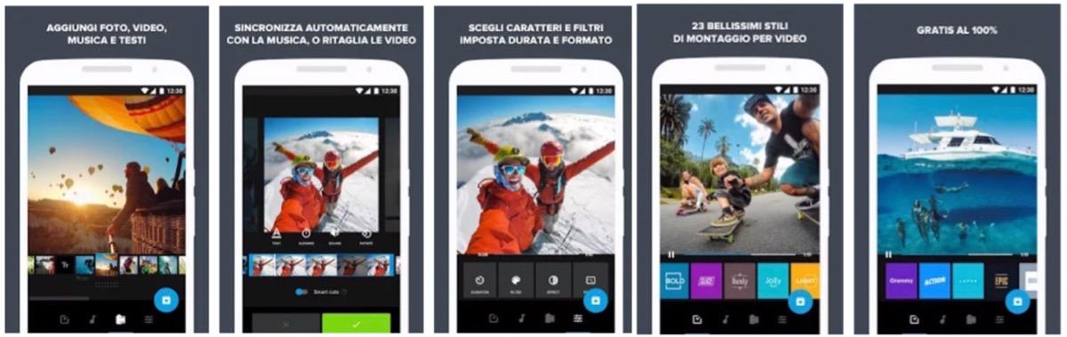 Quik, l'app per montare i video registrati con le action cam di GoPro