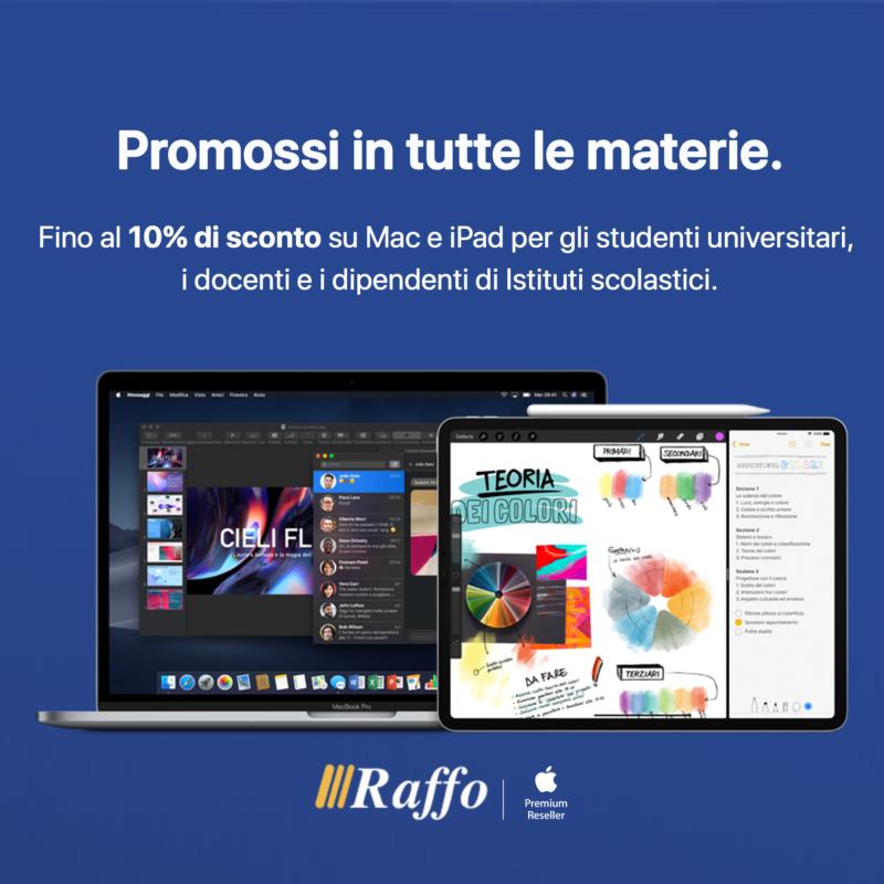 Raffo Store Genova festeggia con sconti fino al 50% e promozione Back to School