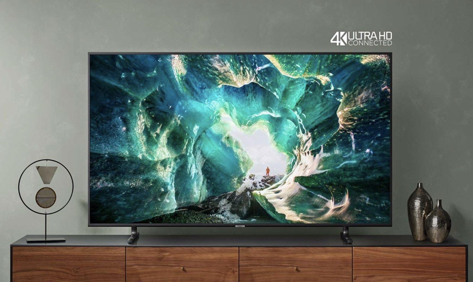 "TV Samsung 4K RU8000 con Alexa, Google e Airplay in sconto Amazon fino al 44%: da 49 a 65"""