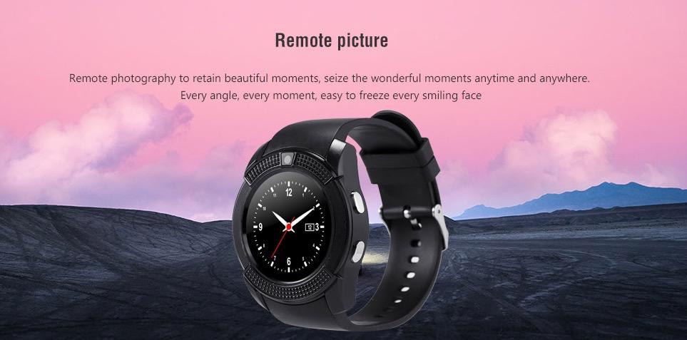 Solo 9 euro per lo smartwatch V8, design classico e fa pure le