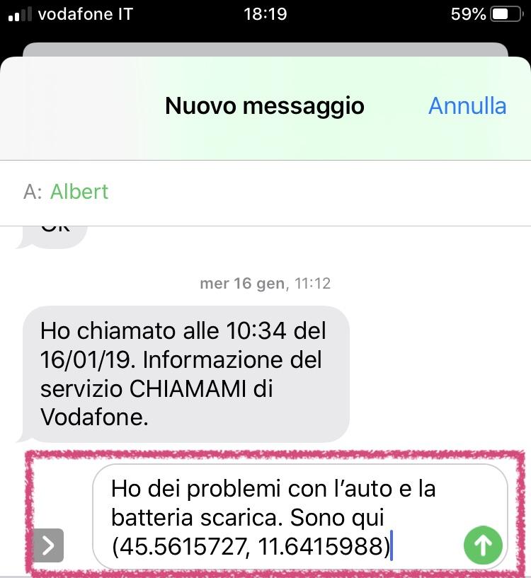 Come segnalare la propria posizione geografica con un SMS senza connessione dati su iPhone e Android