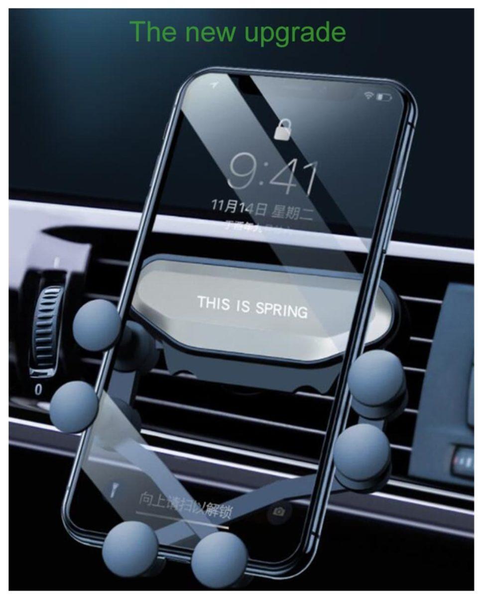 Geniale supporto universale auto per iPhone e smartphone Xiaomi, Samsung, Huawei e OnePlus
