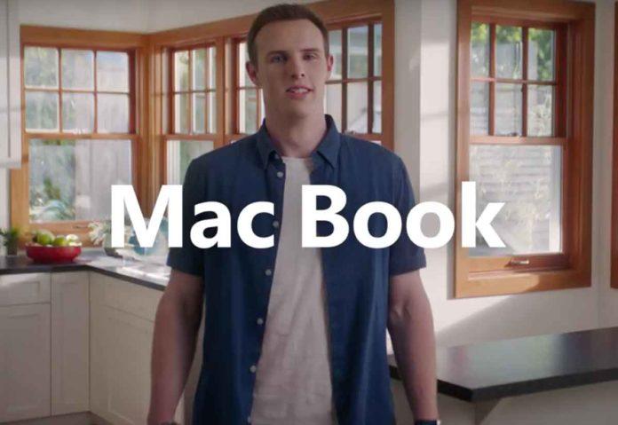 """Microsoft ha arruolato un uomo che si chiama """"Mac Book"""" per pubblicizzare il Surface Laptop 2"""