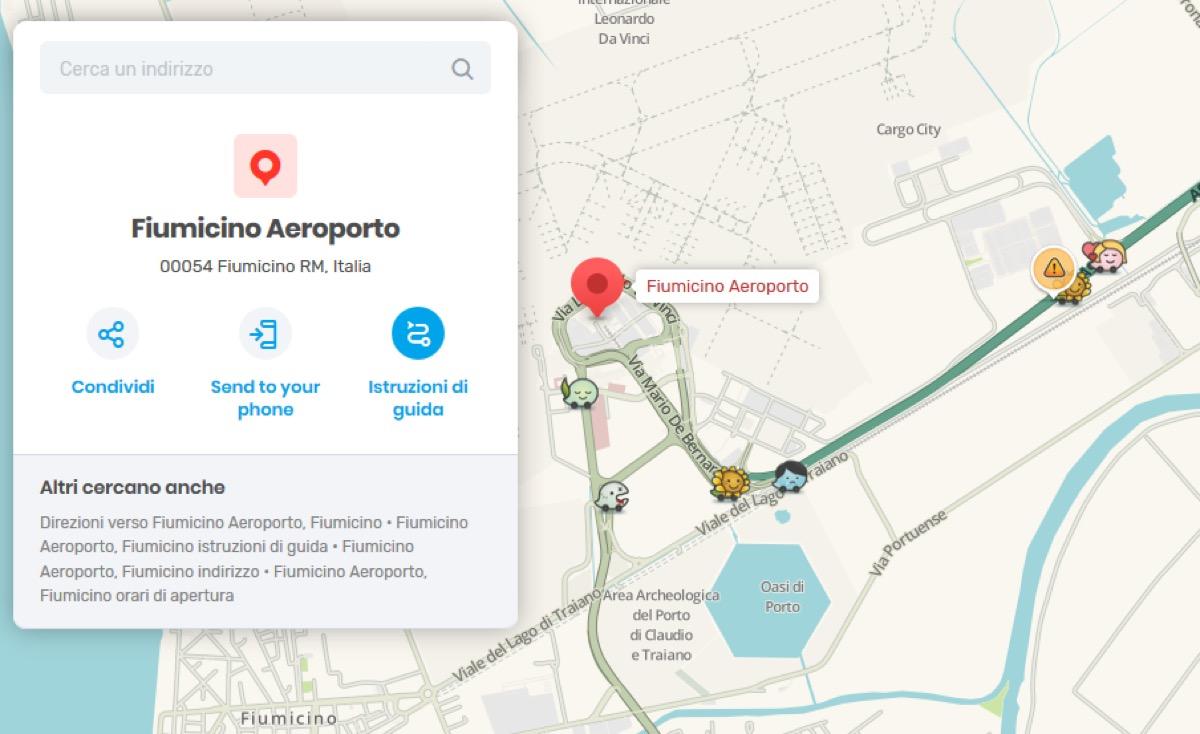 Il traffico verso gli aeroporti di Roma si tiene d'occhio con Waze