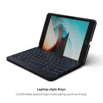 Zagg Folio per iPad mini 5 offre una tastiera colorata con super autonomia