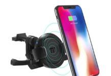 Supporto smartphone in auto con ricarica wireless in offerta a soli 13,19 euro