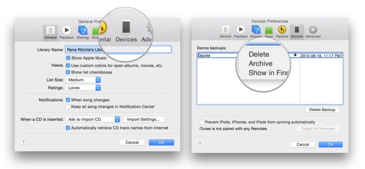 Come fare il backup archiviato di iOS 12 per un eventuale downgrade di iOS 13