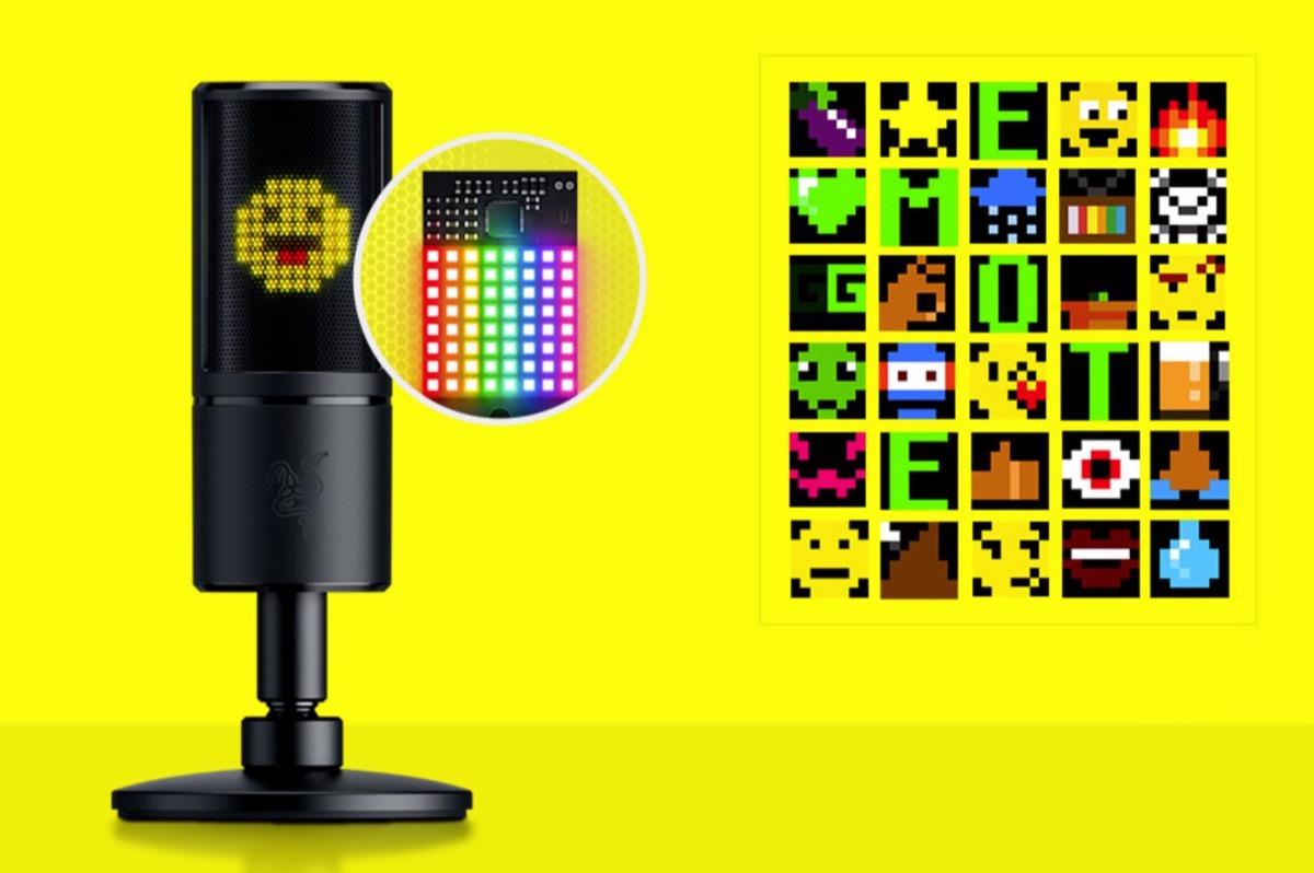 Razer Seiren Emote, il microfono per streamer con emoticon interattive
