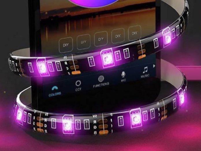 Striscia LED lunga 2 metri controllabile anche via Bluetooth a soli 6,99 euro