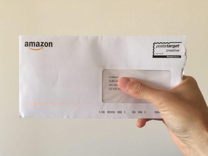 Amazon spedisce via posta ordinaria la card che regala tre mesi di Music Unlimited