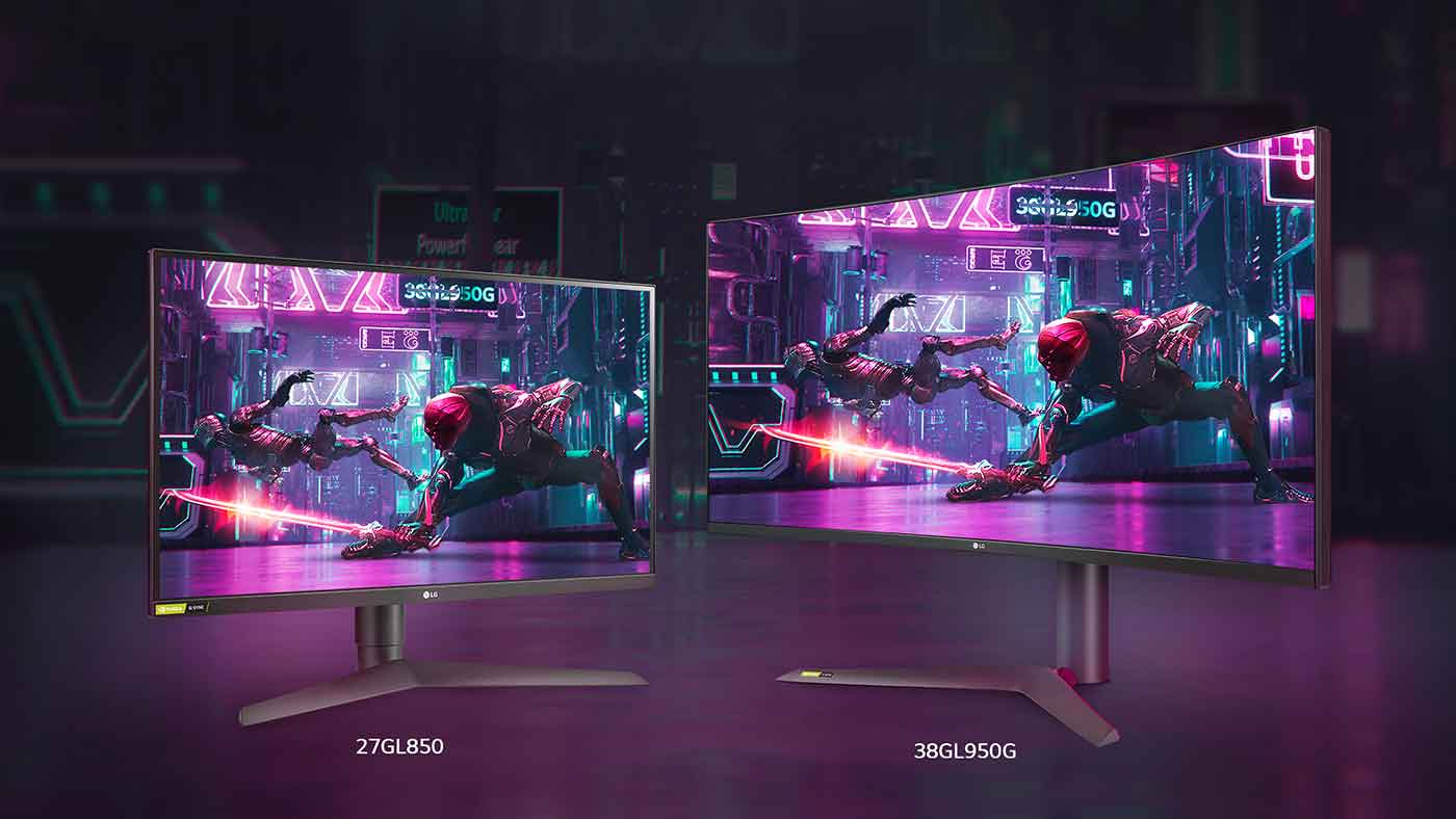 Nuova lineup di monitor LG per il gaming UltraGear 1 millisecondo IPS NVIDIA G-SYNC