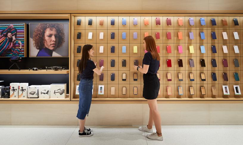 Oltre la metà dei 130 membri del team di Apple Marunouchi proviene da altri Apple Store giapponesi.