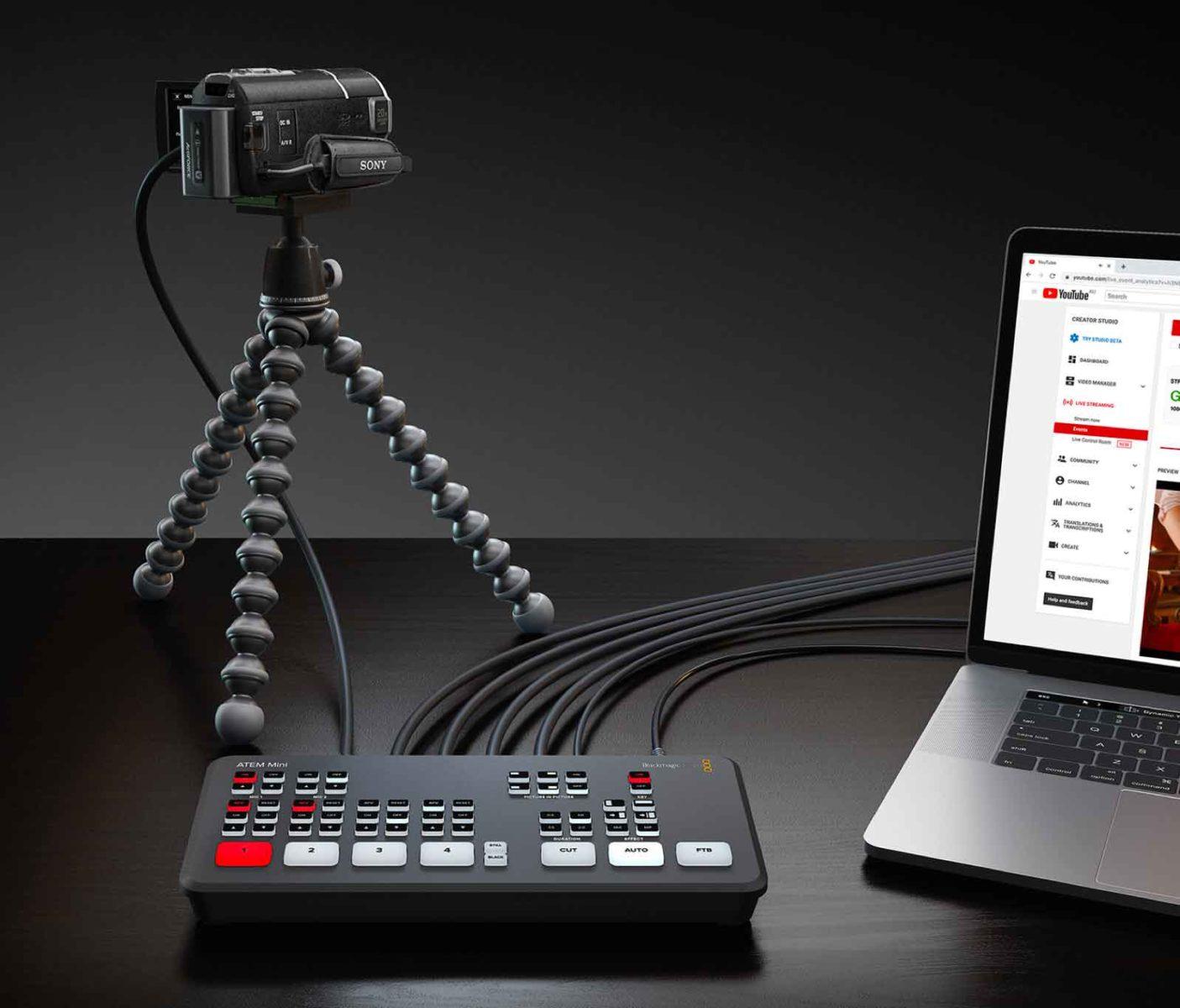ATEM mini è lo switch video pensato per dirette in streaming e YouTubers