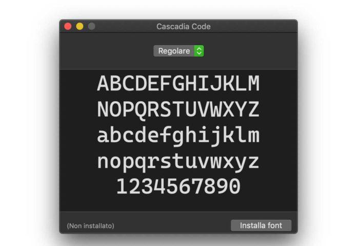 Cascadia Code è un nuovo font di Microsoft per gli sviluppatori