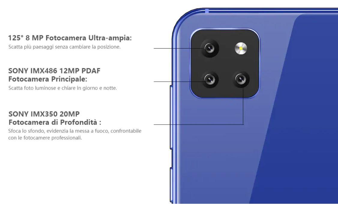 CUBOT X20, il quasi clone di iPhone 11 Pro in offerta a 136 euro