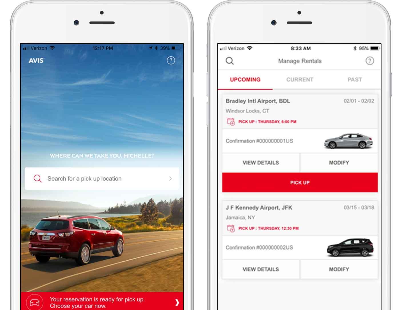 Il noleggio dei veicoli Avis semplificato da app e connettività a bordo