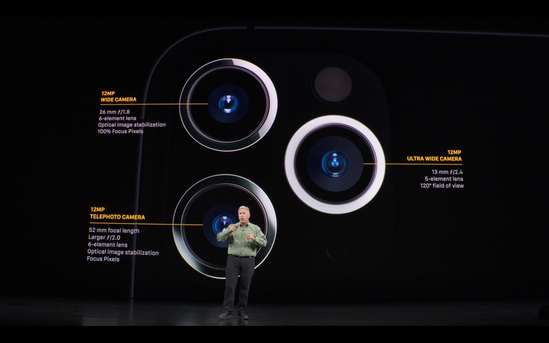 le fotocamere di iPhone 11 Pro spiegate in una slide da Phil Schiller