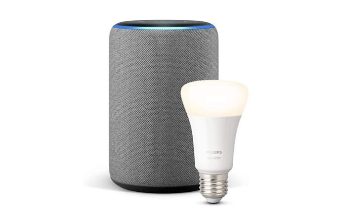 Offerta Amazon Echo Plus con Philips Hue, 80 Euro di risparmio