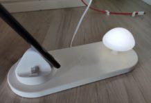 In prova la dock di ricarica con lampada notturna