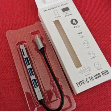 Recensione micro-hub USB-C GoComma con 3 prese USB e lettore microSD card a meno di 7 Euro da portare in tasca