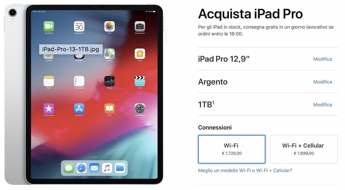 Apple taglia i prezzi di iPad Pro 1TB, ma non in Italia
