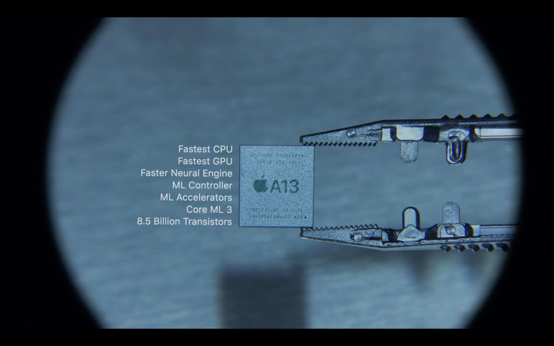 Il processore A13 di iPhone 11 Pro