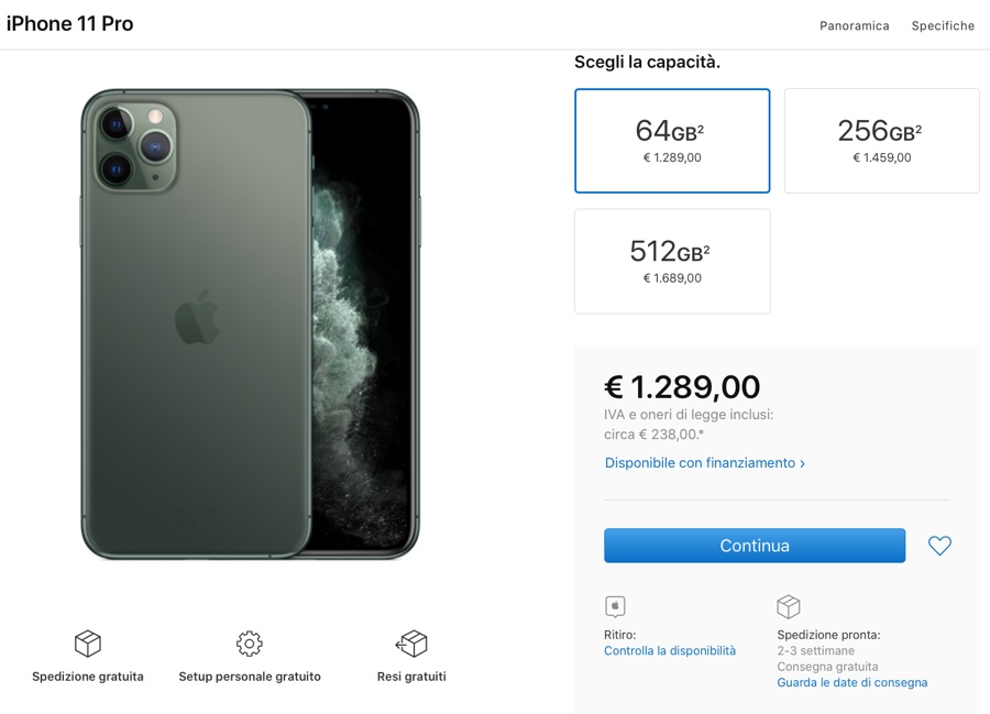 Preordini iPhone 11 e iPhone 11 Pro disponibili. Aggiornato: slittano tutti i tempi di consegna