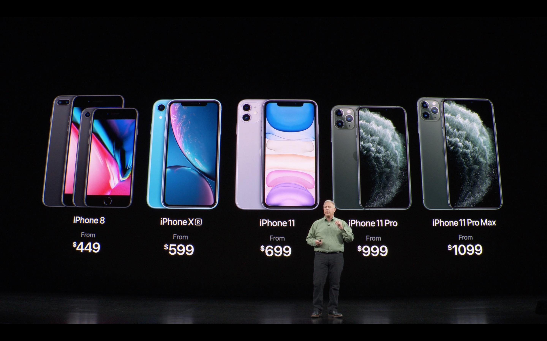 La gamma di prezzi di iPhone 2019, iPhone 11 Pro incluso