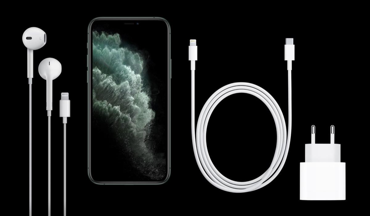 iPhone 11 Pro sarà venduto con alimentatore 18W e cavo Lightning USB-C