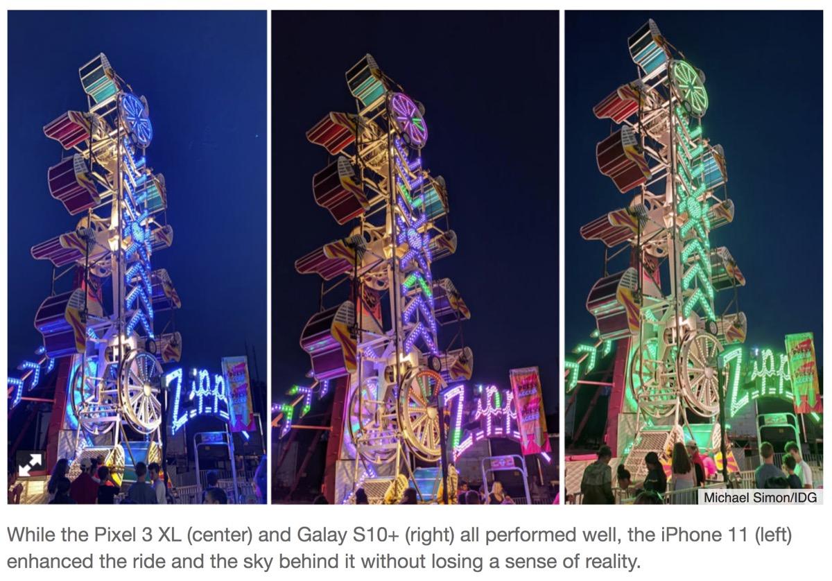 La modalità notturna di iPhone 11 umilia i migliori Android