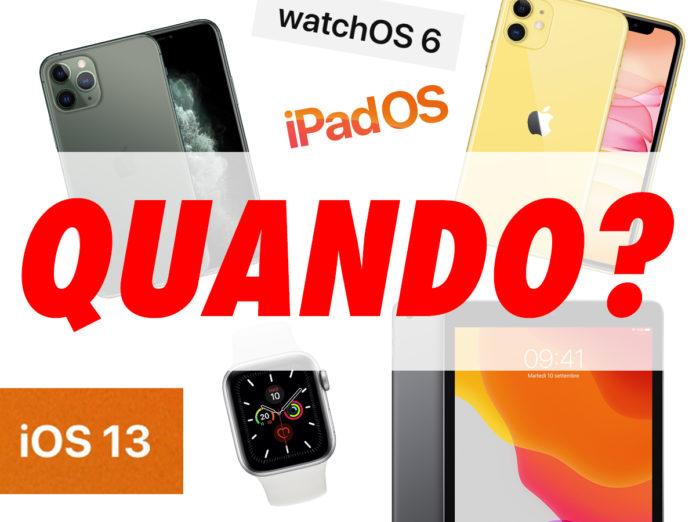 Quando arriva iPhone, iPad, Apple Watch, iOS, iPadOS: tutte le date