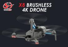 CSJ-X8, il drone con motori brushless, GPS e camera 4K in sconto da 122,99 euro su eBay