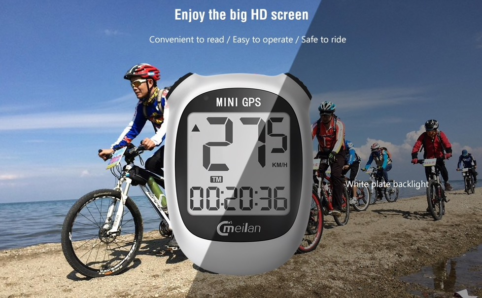 Il mini computer di bordo con GPS per bici in offerta a 16,39 euro
