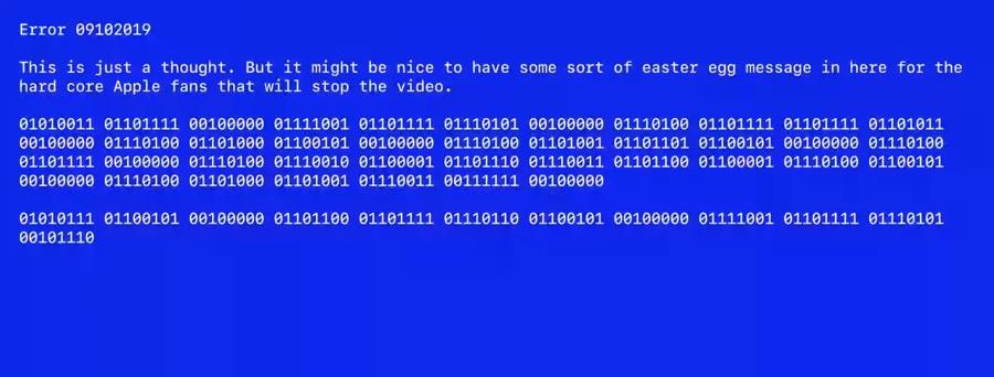 Apple nasconde un messaggio segreto nel video di 2 minuti del keynote