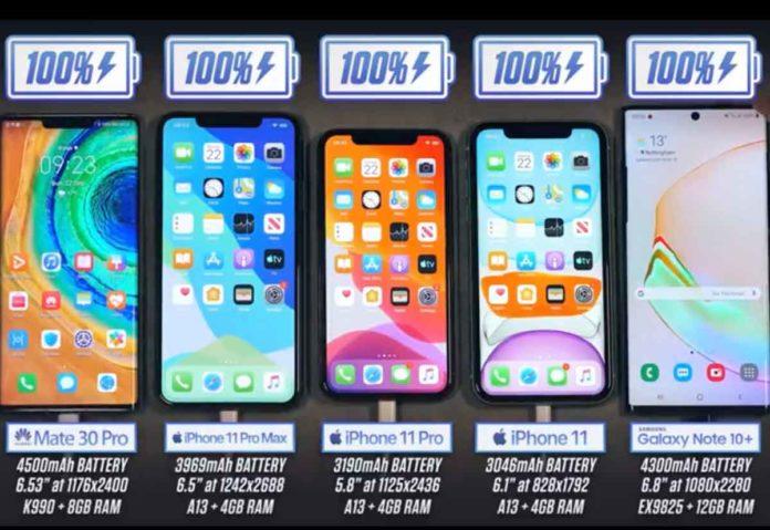 Nei test sulla durata della batteria Phone 11 Pro Max batte Huawei Mate 30 Pro e Galaxy Note 10+