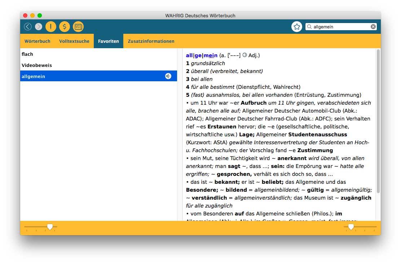 I dizionari Wahrig per chi studia il tedesco disponibili come app per Mac