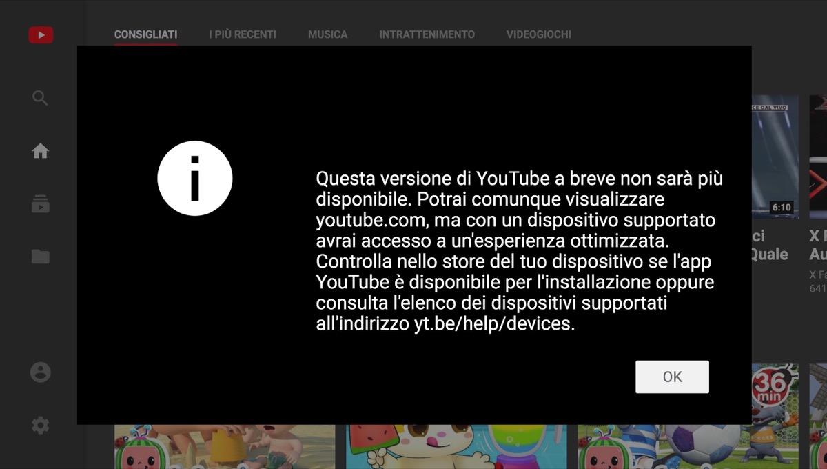 L'interfaccia web di YouTube TV sta per dirci addio