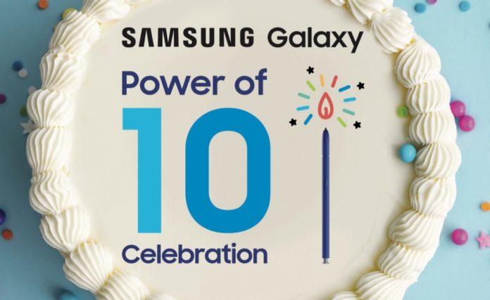 Il Galaxy compie 10 anni e Samsung lo festeggia con sconti fino al 50%