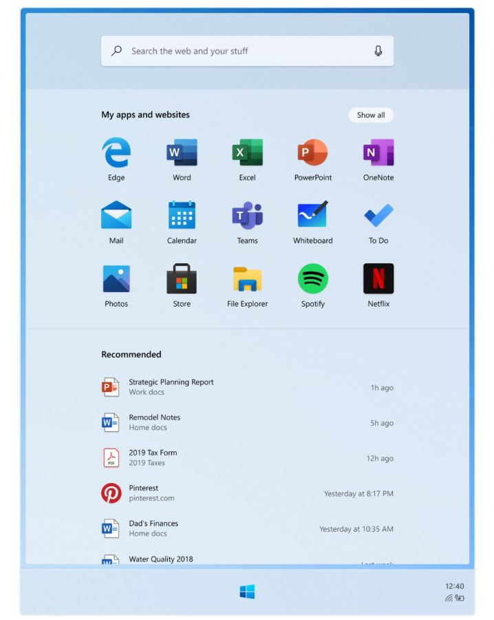 Le prime schermate di Windows 10X sembrano quelle di un sistema misto desktop/mobile