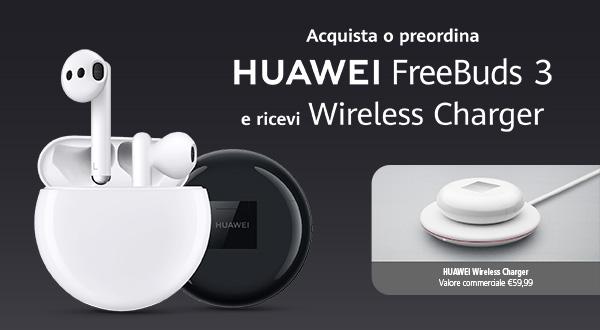Huawei Freebuds 3 anche in Italia con una promo lancio