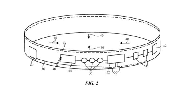 Apple Watch, in un brevetto di Apple un cinturino con tessuto elasticizzato e nuovi sensori
