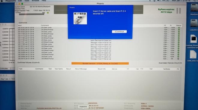 """Il software diagnostico """"PhoenixCE"""" lasciato da Apple sul MacBook Pro di un utente"""