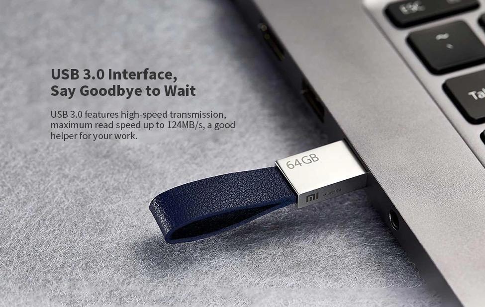 Xiaomi XMUP01QM, l'elegante chiavetta USB 3.0 da 64 GB che sembra un porta chiavi
