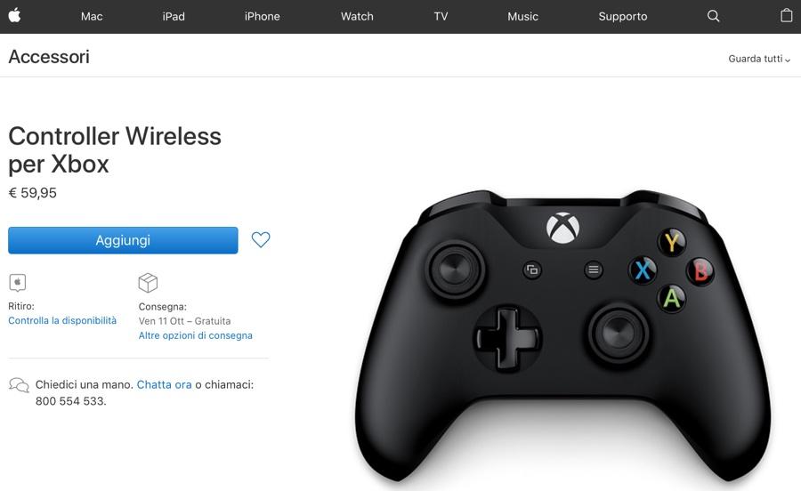 Apple ora vende il Controller Wireless per Xbox su Apple Store online