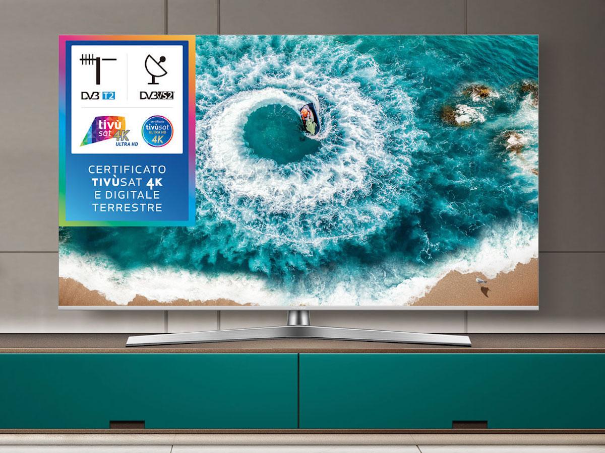 Triple Tuner Dolby Vision HDR HISENSE H50BE7400 TV LED Ultra HD 4K Wide Colour Gamut Unibody Design Smart TV VIDAA U3.0 AI